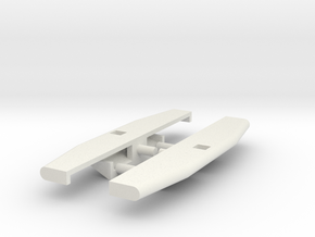 1/64th Oilfield Heavy bumper with skid plate 1 in White Natural Versatile Plastic