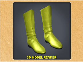 1:6 Scale Dr. Fate Boots in White Processed Versatile Plastic