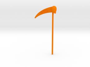 Time Traveler Zodiac Scythe in Orange Processed Versatile Plastic: Medium