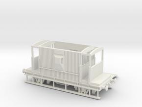HO/OO BR 20-ton Brake van Realistic v1 Chain in White Natural Versatile Plastic