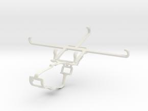 Controller mount for Xbox One & Motorola Edge 20 F in White Natural Versatile Plastic