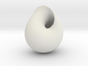 MiniMobius in White Natural Versatile Plastic