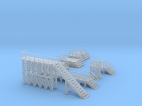 Industrial Stairs and Platform Set Outland Models in Smooth Fine Detail Plastic: 1:160 - N
