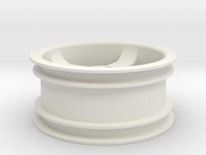 "Dirt crusher 1.9"" tire rim in White Natural Versatile Plastic"