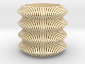Perforated coil planter in Glossy Full Color Sandstone