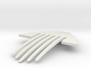 Obelisk Hair Ornament Flext Thinned in White Natural Versatile Plastic