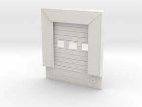 Loading Dock Door 1/48 in White Natural Versatile Plastic