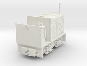 "H0f scale diesel locomotive ""LKM NS 2 Feldbahnlok"" in White Natural Versatile Plastic"