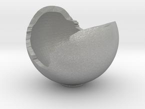 Miniature Ornament Broken Spherical Bowl in Aluminum