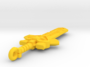 Power of sword in Yellow Processed Versatile Plastic
