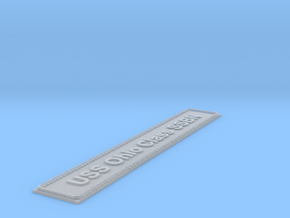 Nameplate USS Ohio Class SSBN (6 inches) in Smoothest Fine Detail Plastic