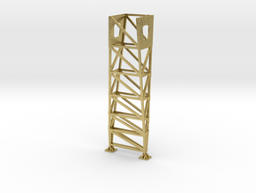 VR Pin Arch 4 Track Part #6 (Brass) 1:87 Scale in Natural Brass