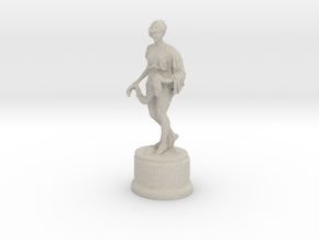 Sculpture of woman Holding wreath  in Natural Sandstone