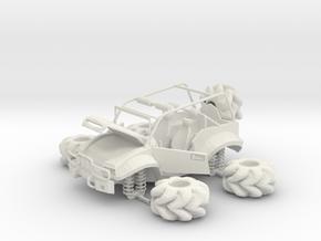 sporty jeep in White Natural Versatile Plastic