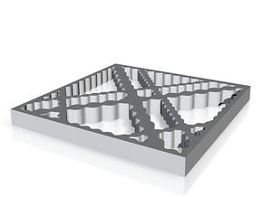 Tiled Frame in White Natural Versatile Plastic