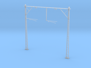 VR Double Stanchion 76mm (Standard) 1:87 Scale in Smooth Fine Detail Plastic