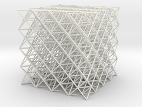 512 Tetrahedrons in White Natural Versatile Plastic
