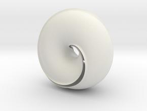 Torus Shell in White Natural Versatile Plastic