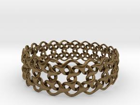 Bracelet V Large  in Natural Bronze