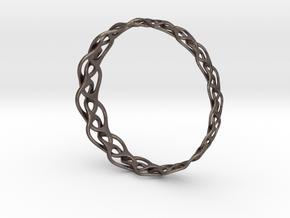 Bracelet I large in Polished Bronzed Silver Steel