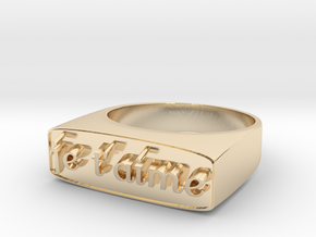 """RING   """" Je t'aime """"   U.S Size  9 in 14K Yellow Gold"""