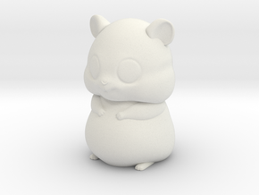 Hamster in White Natural Versatile Plastic