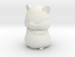 Hamster in White Natural Versatile Plastic