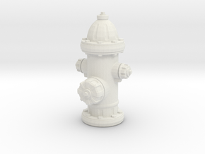 Fire hydrant, us style in White Natural Versatile Plastic