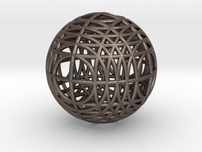 MegaWireSphere in Polished Bronzed Silver Steel