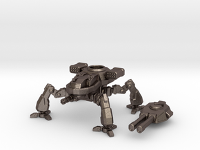 Terran Artillery Walker in Polished Bronzed Silver Steel