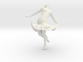 Dancing Girl 15.0 cm in White Strong & Flexible
