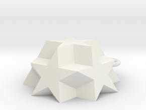 Dodecadodecahedron Charm in White Natural Versatile Plastic