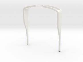 0073 Degma SunGlasses Bend 01 in White Natural Versatile Plastic