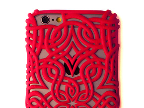 Lotus Case for the iPhone 6 /6S in Red Processed Versatile Plastic