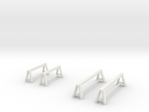 1/64 steel trestle / tréteaux in White Natural Versatile Plastic