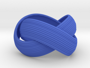 Double Swing Grooved Ring in Blue Processed Versatile Plastic