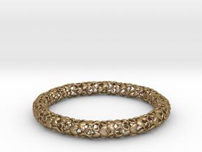 Heart By Heart Bracelet in Polished Gold Steel