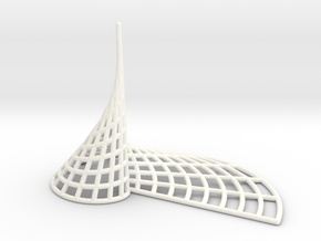 Archimedean Spire in White Strong & Flexible Polished