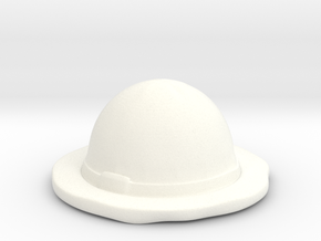 Straw Hat  in White Processed Versatile Plastic