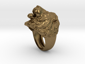 Lion Ring in Natural Bronze: 11.5 / 65.25
