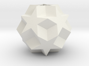 Dodecadodecahedron in White Natural Versatile Plastic
