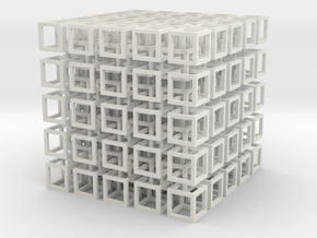 interlocked cubes 5 in White Natural Versatile Plastic