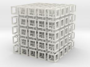 interlocked cubes 5 in White Natural Versatile Plastic