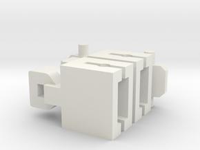 Vaste Koppeling Spoor N in White Natural Versatile Plastic