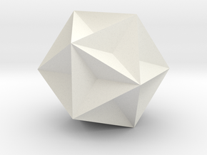 Great Dodecahedron in White Strong & Flexible