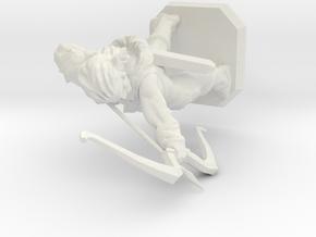 Elven archer in White Natural Versatile Plastic