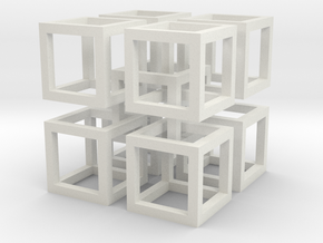 interlocked cubes 2 in White Natural Versatile Plastic