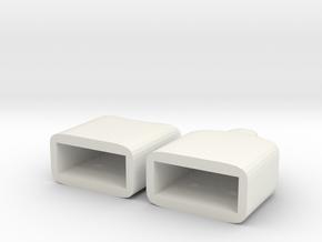 Plain USB caps in White Natural Versatile Plastic