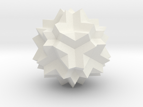 Great Dodecicosidodecahedron in White Strong & Flexible