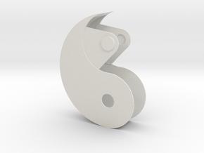 Yin Yang Box in White Natural Versatile Plastic